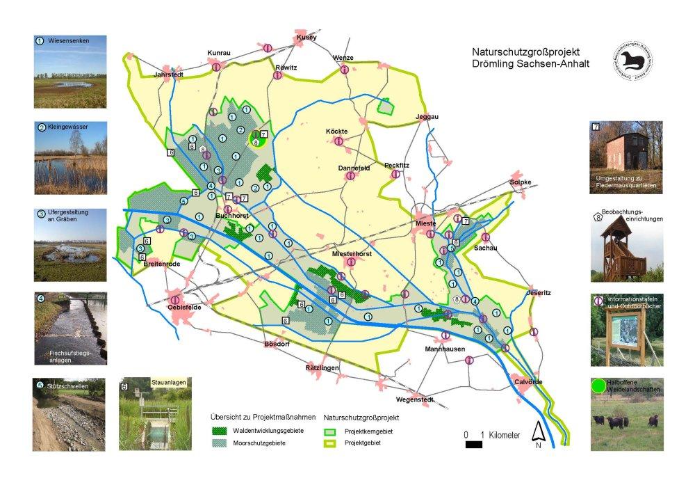 Karte Naturschutzprojekt Drömling